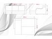 Диван угловой Лайф с накладками Stambul 04-Rana 8626 col 9000