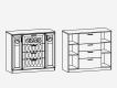 Комод с 4 ящиками 2 дверками М13 Париж Ясень шимо светлый-силк-тирамису