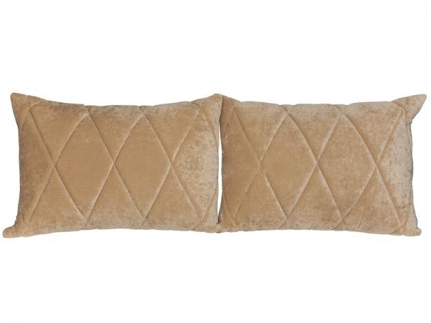 Комплект подушек Роуз 2 шт. арт. ТК-116 бежевый песочный
