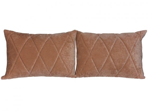 Комплект подушек Роуз 2 шт. арт. ТК-117-1 коричневый