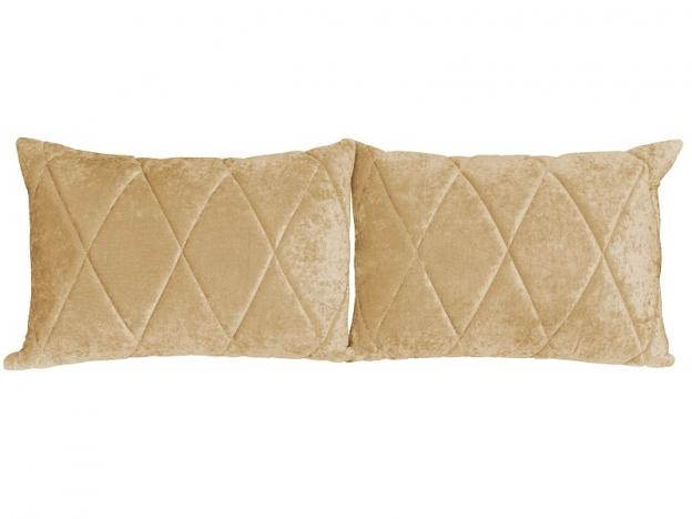 Комплект подушек Роуз 2 шт. арт. ТК-258 желто-песочный