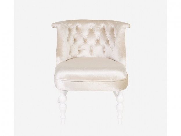 Кресло Бархат крем глянец-белая эмаль