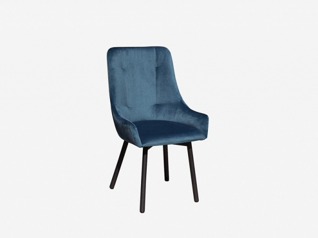 Кресло Бостон велюр бирюзовый-металл черный
