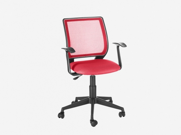 Кресло офисное Эксперт Т-эрго ткань TW-13 красная