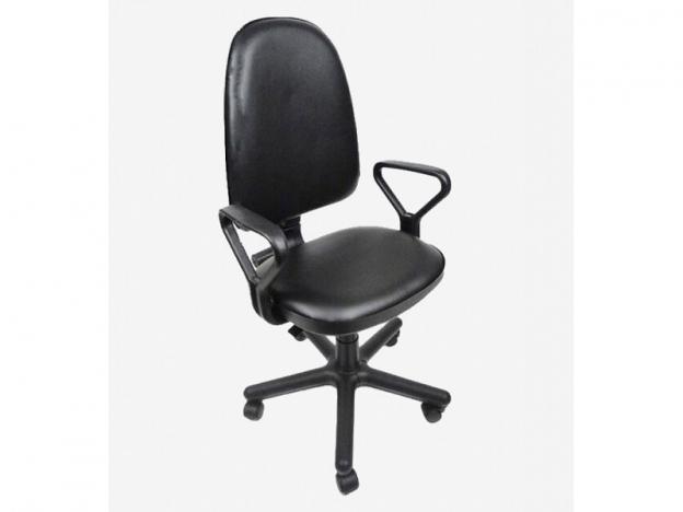 Кресло офисное Престиж Самба кожзам черный