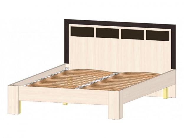 Кровать 1400 Венеция венге-дуб молочный