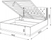 Кровать 1,6 с подъемным механизмом Тиффани М25