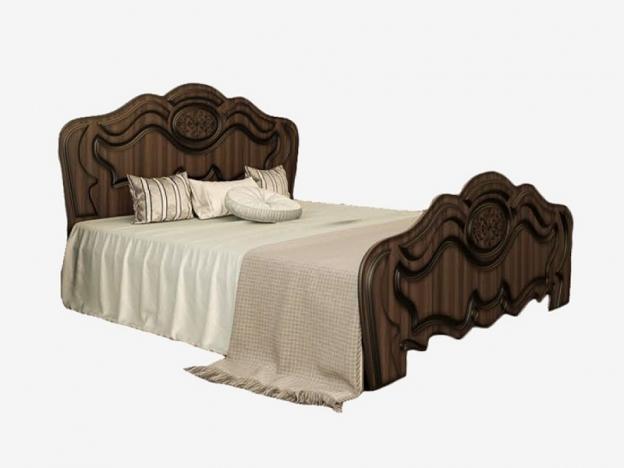 Кровать 1600 Жасмин ясень шимо темный-текстура шамони