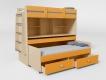 Кровать 2-х ярусная № 2 с ящиком манго