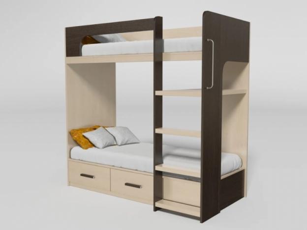 Кровать 2-х ярусная № 7 венге