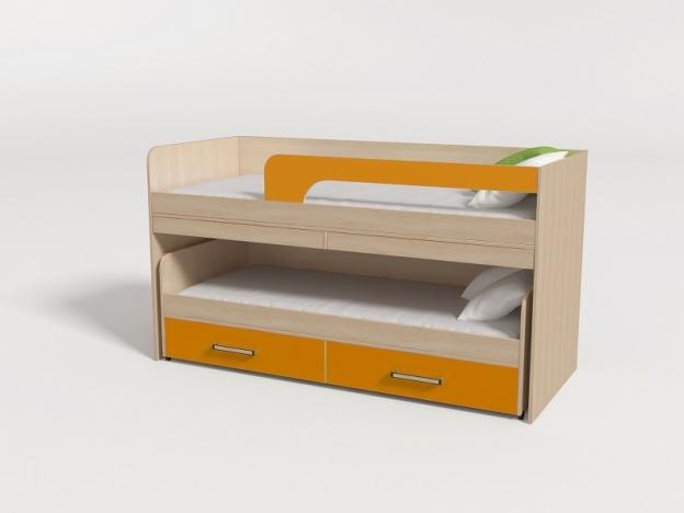 Кровать 2-х ярусная выкатная № 11 манго
