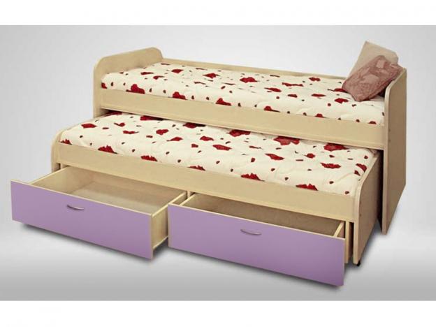 Кровать 2-х ярусная выкатная Антошка лиловый