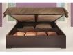 Кровать-3 1600 Парма с подъемным ортопедическим основанием венге-экокожа кайман темный