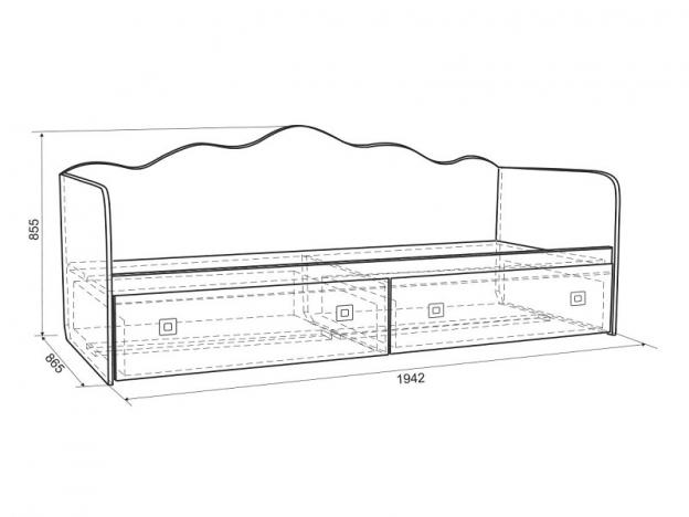 Кровать Бонни MKB-07