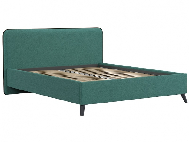 Кровать двуспальная Миа изумрудный