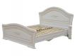 Кровать Гармония МДФ 1600х2000 с ортопедическим основанием белое дерево-патина золото