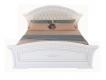 Кровать Гармония МДФ с мягким изголовьем 1600х2000 с ортопедическим основанием белое дерево-патина золото
