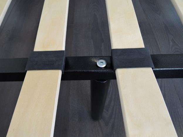 Кровать Мета разборная черная 900х2000 мм