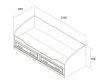 Кровать-софа с 2 ящиками Прованс 800х2000 мм