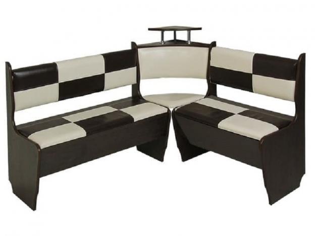 Кухонный диван Домино венге-экокожа беж