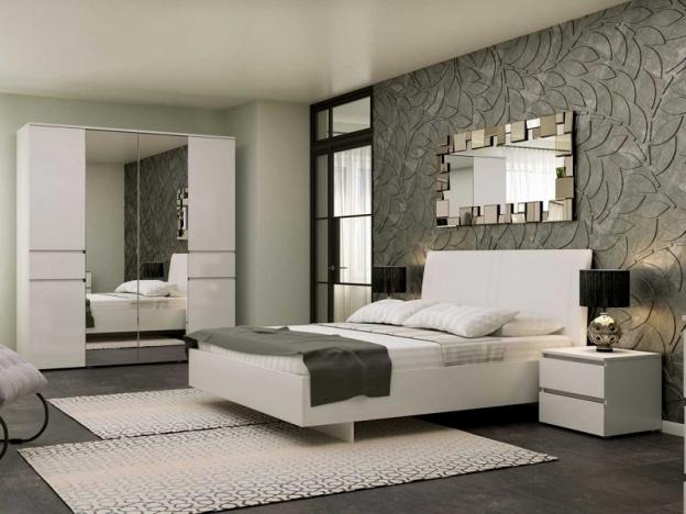 Модульная спальня Alberta Белый Альпийский