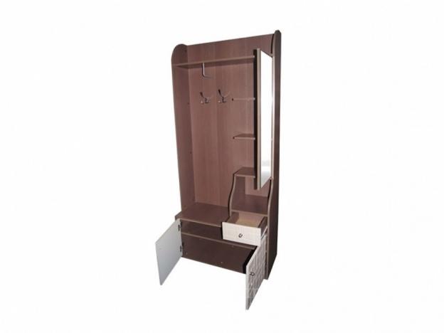 Прихожая Восток 8 Шкаф комбинированный венге-конго-дуб выбеленный