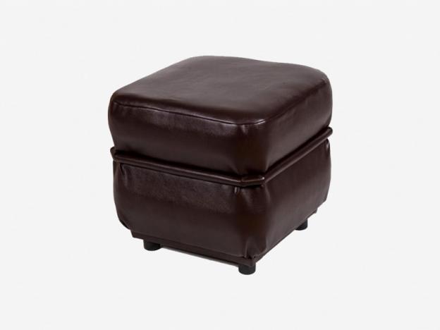 Пуф квадратный Призма коричневый