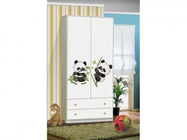 Шкаф 2-х створчатый с 2 ящиками Пандочки