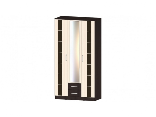 Шкаф 3-х створчатый 1200 Венеция венге-дуб молочный