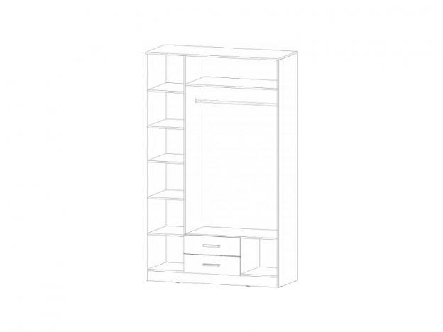 Шкаф 3-х створчатый 1400 Венеция венге-дуб молочный