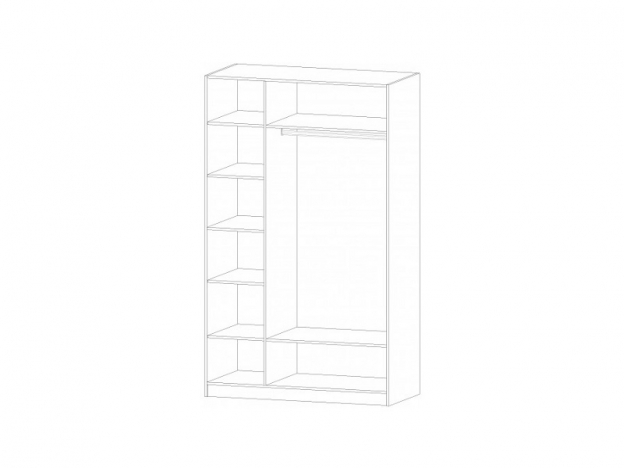 Шкаф 3-х створчатый Диана анкор светлый