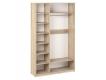 Шкаф 3-х створчатый с зеркалом Дуэт Люкс Дуб Сонома светлый