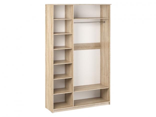 Шкаф 3-х створчатый с зеркалом Дуэт Люкс Ясень шимо темный-Ясень шимо светлый