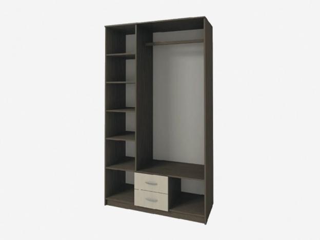 Шкаф 3х створчатый с 2 ящиками с зеркалом Ронда ШК-3 венге-дуб беленый