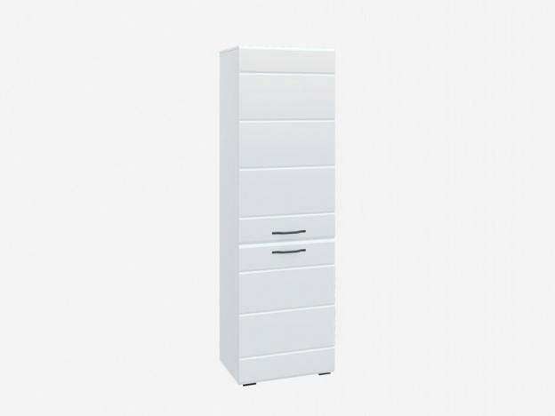 Шкаф Асти АШК600.2 Белый-Белый глянец