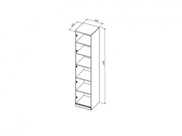 Шкаф для белья с 1 дверью Прованс МДФ