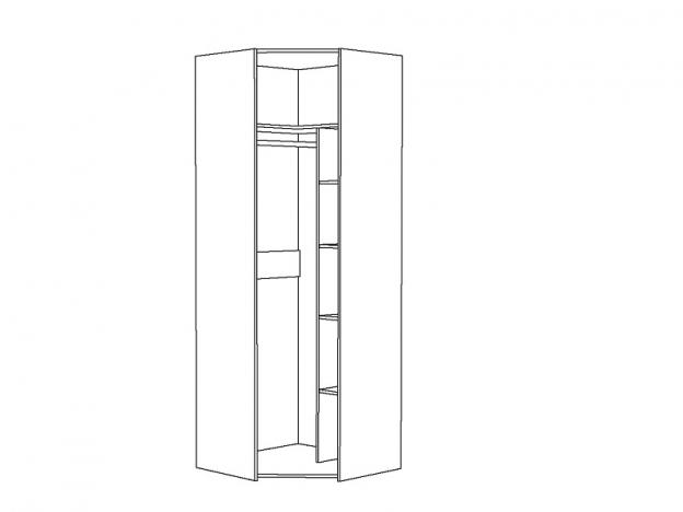 Шкаф для одежды угловой Амели 13.131 Шелковый камень