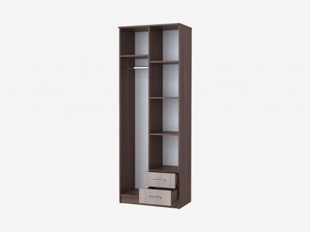 Шкаф Дуэт-3 2х-створчатый с 2 ящиками София ясень шимо темный-ясень шимо светлый