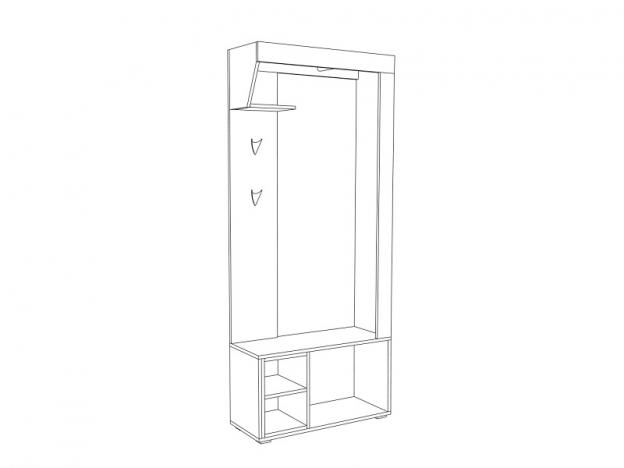 Шкаф комбинированный Лайт 10.03