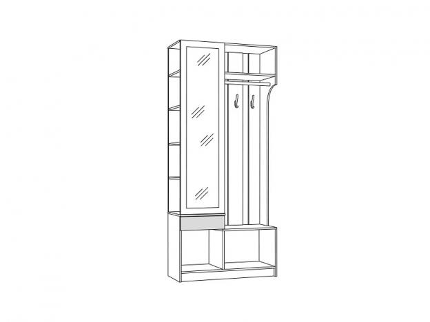 Шкаф комбинированный Мадэра 10.15