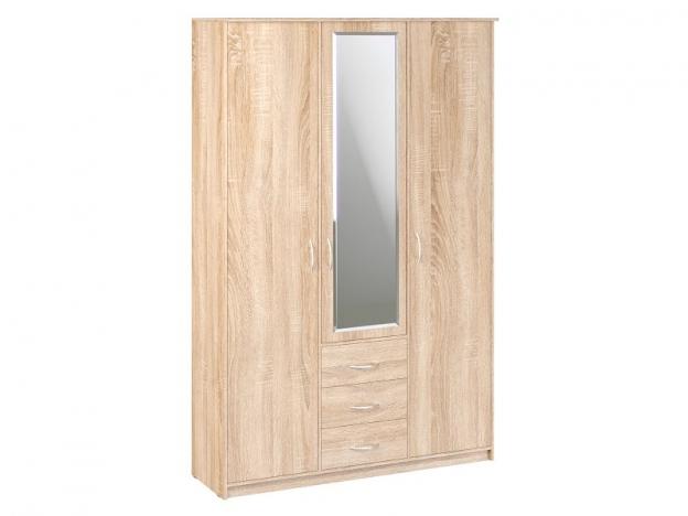 Шкаф комбинированный с зеркалом Дуэт Люкс Дуб Сонома светлый