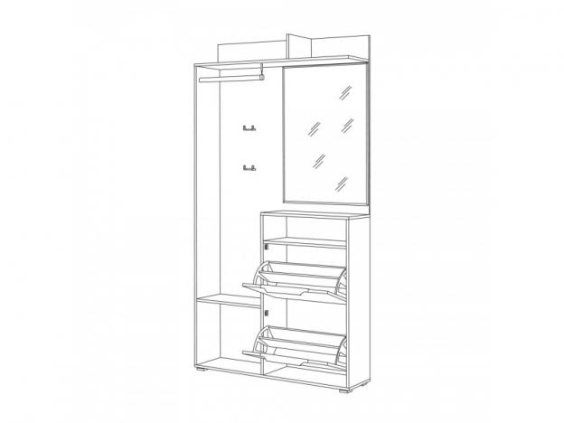 Шкаф комбинированный Темпо 10.13