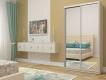 Шкаф-купе Ксения с двумя зеркалами бодега светлая