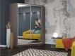 Шкаф-купе угловой Анна Бодега темный с двумя зеркалами