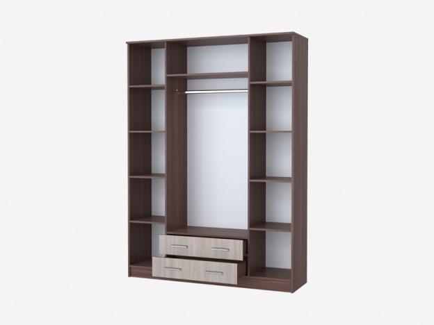 Шкаф Квадро 4х-створчатый с 2 ящиками София ясень шимо темный-ясень шимо светлый