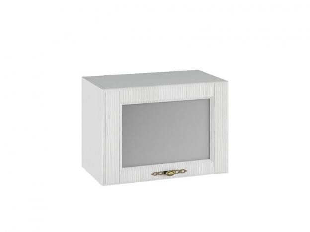 Шкаф навесной горизонтальный со стеклом ПГС500 Империя МДФ сандал ШхВхГ 500х350х280 мм