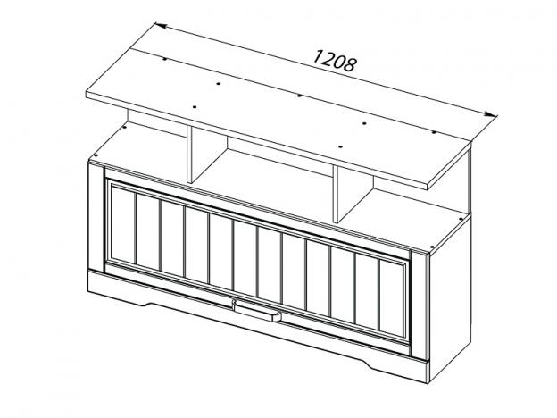 Шкаф навесной Прованс МДФ ШхВхГ 1208х747х299 мм