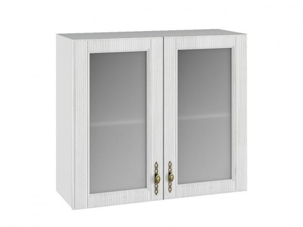 Шкаф навесной со стеклом ПС800 Империя МДФ сандал ШхВхГ 800х700х280 мм