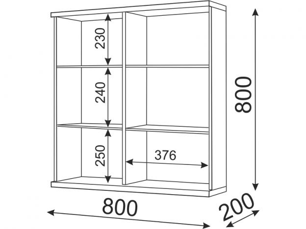 Шкаф навесной Тиффани М08