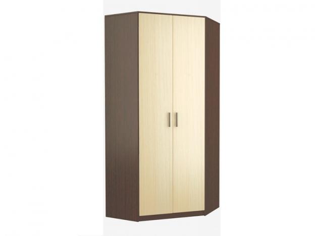 Шкаф угловой 2-х дверный венге-дуб беленый